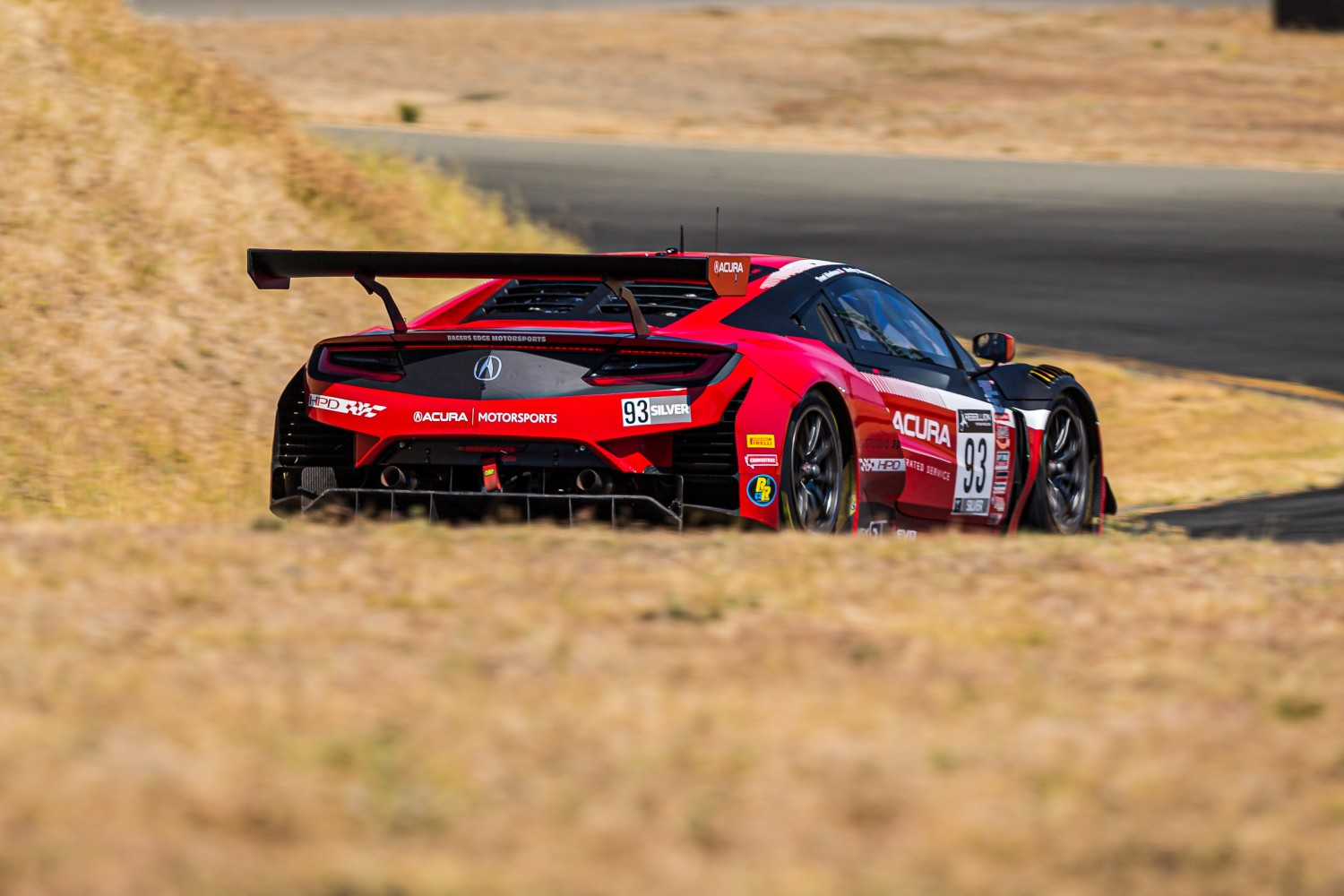 #93 Acura NSX GT3 of Shelby Blackstock and Trent Hindman, Racers Edge Motorsports, GT3 Pro-Am, 2020 SRO Motorsports Group - Sonoma Raceway, Sonoma CA