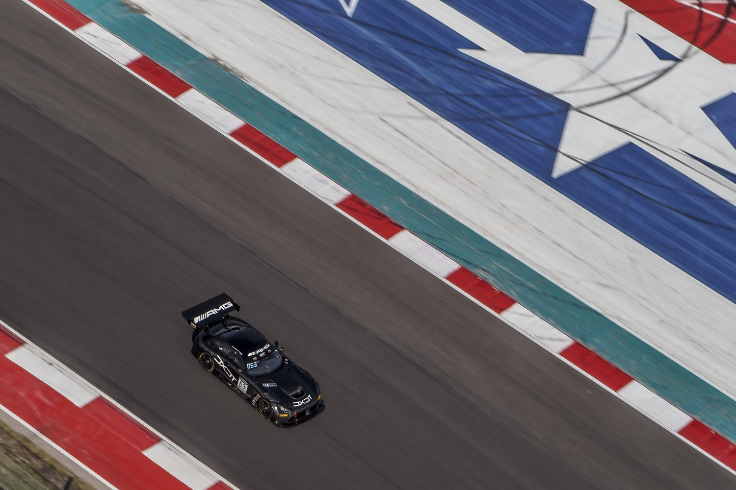 #63 Mercedes-AMG GT3 of David Askew and Ryan Dalziel, DXDT Racing, GT3 Pro-Am, SRO America, Circuit of the Americas, Austin TX, September 2020.