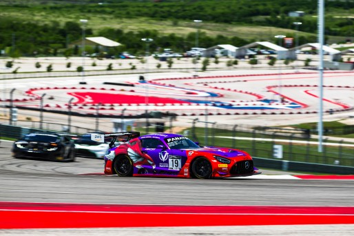 #19 Mercedes-AMG GT3 of Erin Vogel and Michael Cooper, DXDT Racing, Fanatec GT World Challenge America powered by AWS, Pro-Am,  SRO America, Circuit of the Americas, Austin, TX, April 29, 2021.
