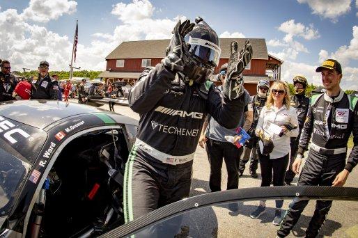 #33 Mercedes-AMG GT3 of Russell Ward and Mikael Grenier, Winward Racing, Fanatec GT World Challenge America powered by AWS, Pro, SRO America, Virginia International Raceway, Alton, VA, June 2021.