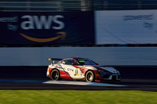 #68 Toyota GR Supra GT4 of Kevin Conway, John Geesbreght and Jack Hawksworth, Smooge Racing, Intercontinental GT Challenge, GT4\SRO, Indianapolis Motor Speedway, Indianapolis, IN, USA, October 2021
