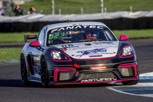 #66 Porsche 718 Cayman GT4 CLUBSPORT MR of Derek DeBoer and Spencer Pumpelly, TRG-The Racers Group, Pro-Am, Pirelli GT4 America, SRO, Indianapolis Motor Speedway, Indianapolis, IN, USA, October 2021
