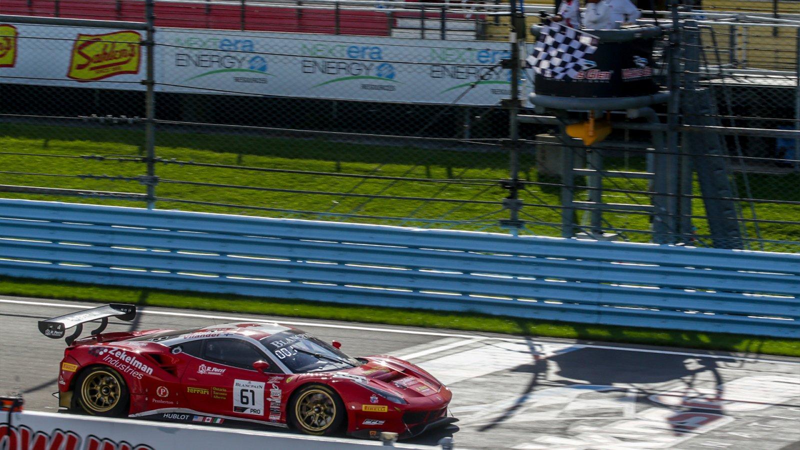 Serra/Vilander Guide Ferrari to Blancpain GT World Challenge America Win at Watkins Glen
