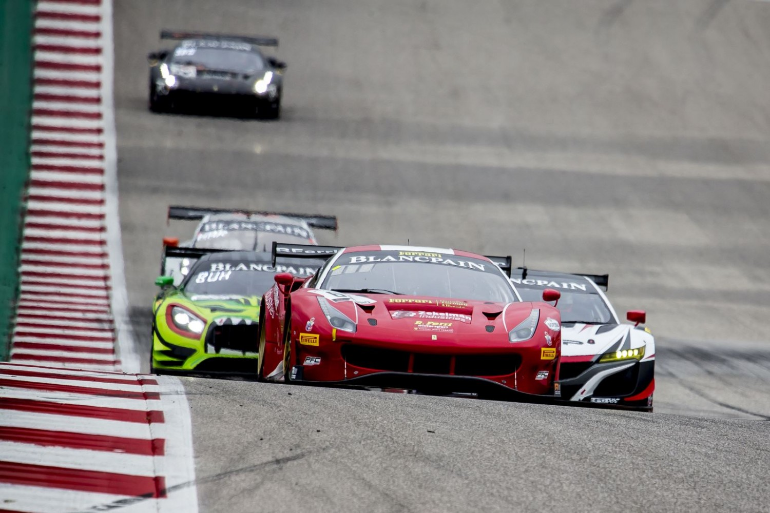R. Ferri Motorsport, Ferrari survive late drama to clinch Race 2 at COTA