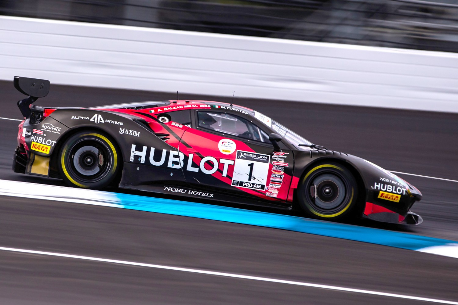 Squadra Corse, Ferrari Pace GT World Challenge America Field in First Practice in Indy