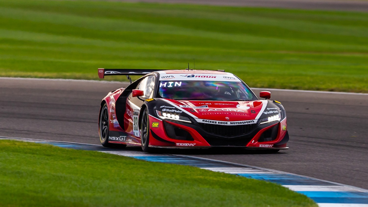 Hindman/Blackstock take Acura NSX GT3 to Top of GT World Challenge America Charts in Second Practice in Indy