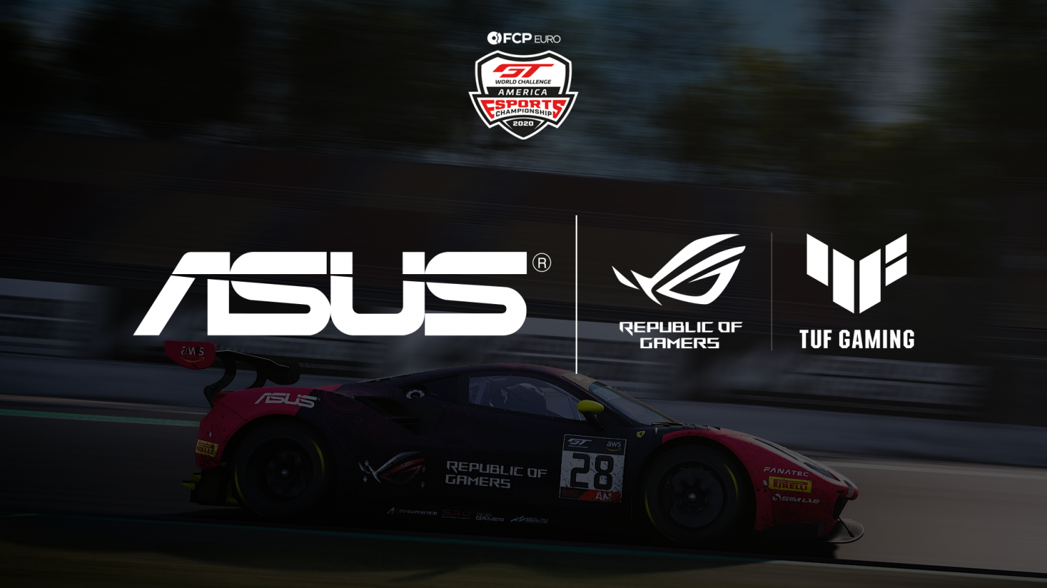 ASUS Republic of Gamers and TUF Gaming Rejoin Season 2 as Official Hardware Partner of FCP Euro GT World Challenge America Esports Championship
