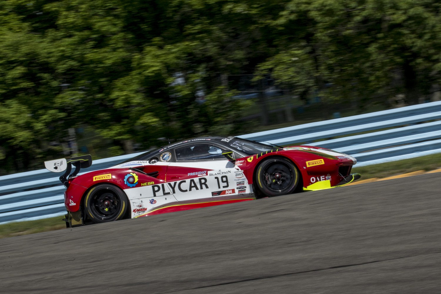 #19 Ferrari 488 GT3 of Christopher Cagnazzi and Anthony Lazzaro, One11 Competition, Watkins Glen World Challenge America, Watkins Glen NY  | SRO Motorsports Group