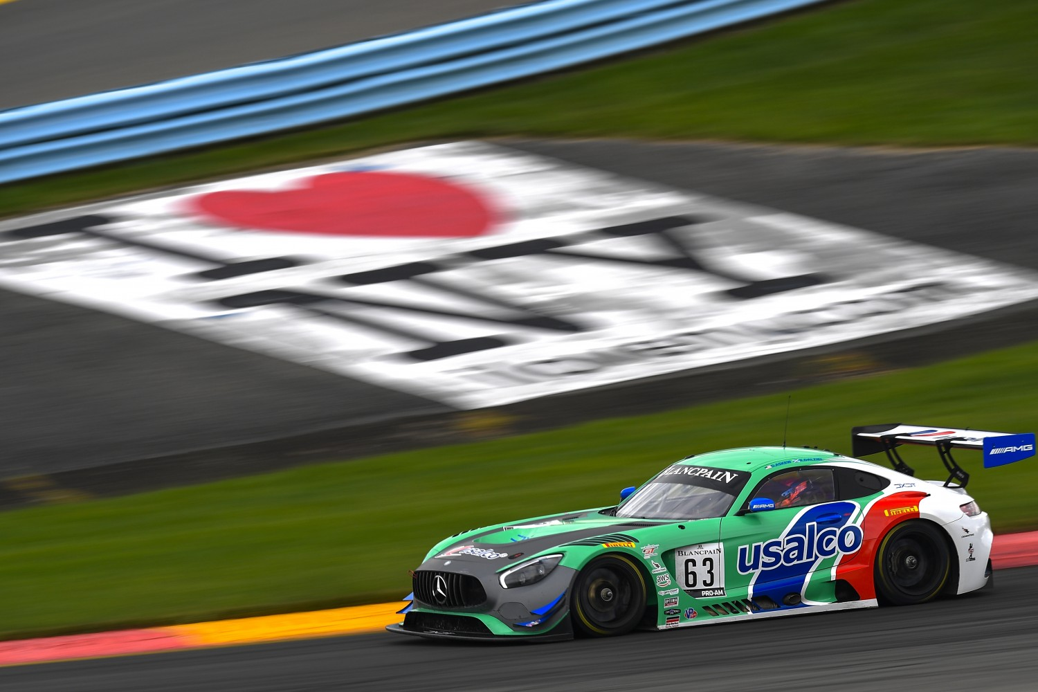 #63 Mercedes-AMG GT3 of David Askew and Ryan Dalziel with DXDT Racing  Watkins Glen World Challenge America , Watkins Glen NY   | Gavin Baker/SRO