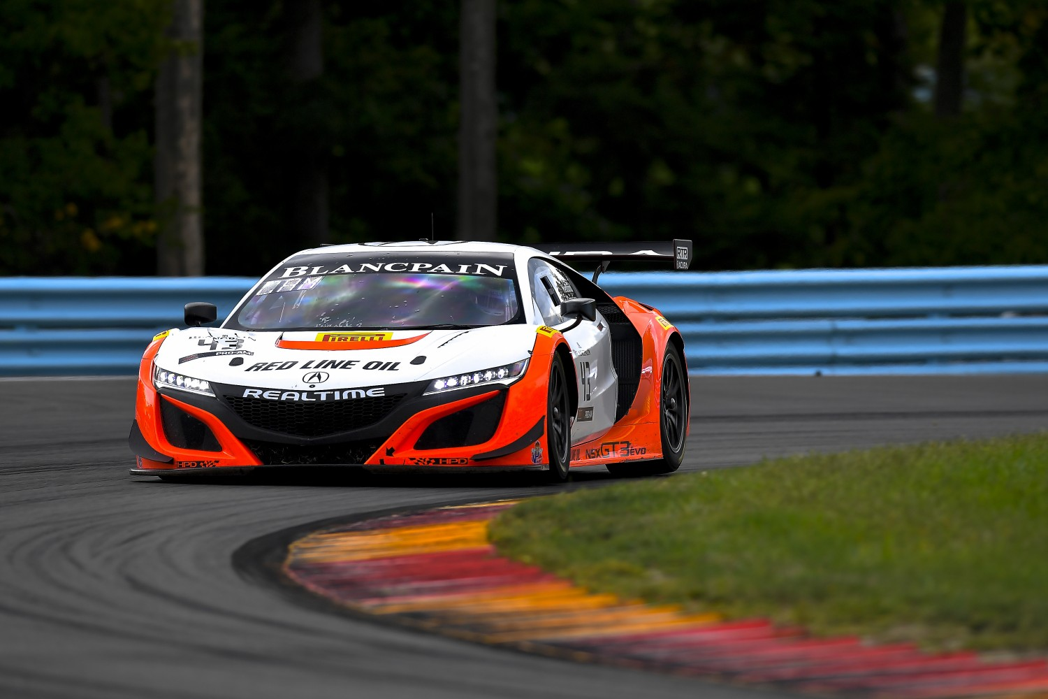 #43 Acura NSX of Mike Hedlund and Dane Cameron with RealTime Racing  Watkins Glen World Challenge America , Watkins Glen NY   | Gavin Baker/SRO