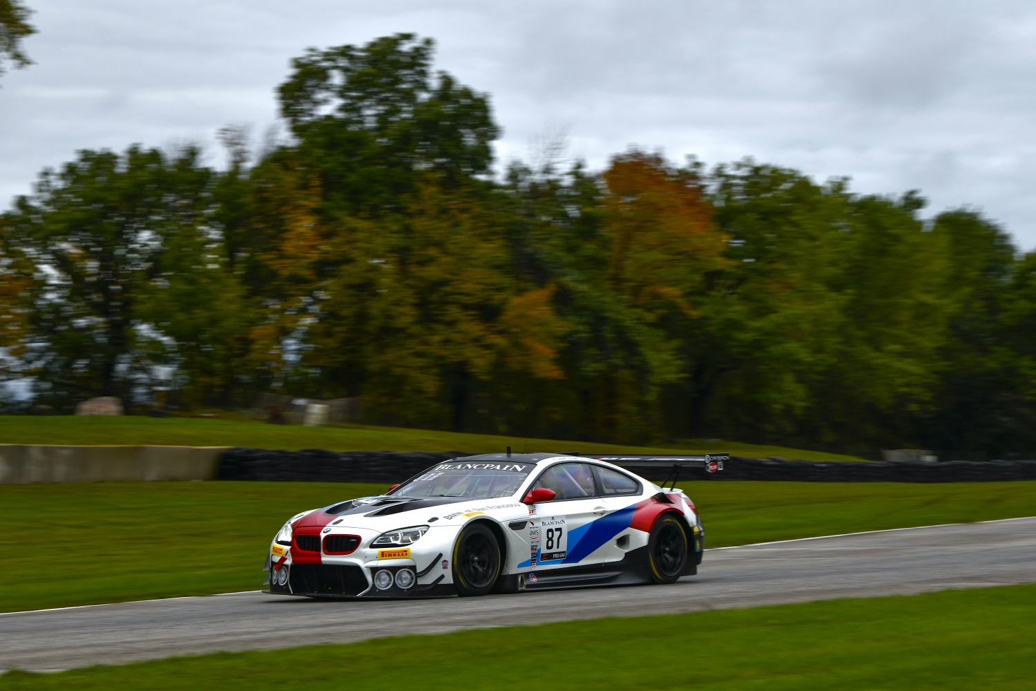 #87 BMW F13 M6 GT3 of Henry Schmitt and Gregory Liefooghe with Stephen Cameron Racing  Road America World Challenge America , Elkhart Lake WI | Gavin Baker/SRO