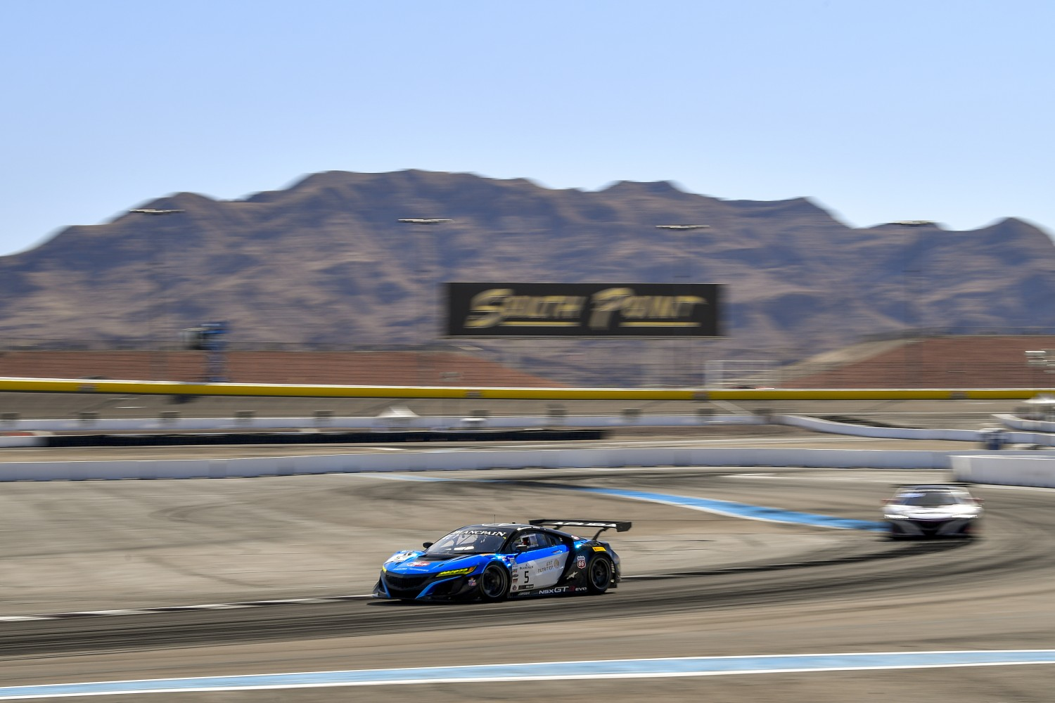#5 Acura NSX of Till Bechtolsheimer and Marc Miller with Gradient Racing  2019 Blancpain GT World Challenge America - Las Vegas, Las Vegas NV | Gavin Baker/SRO