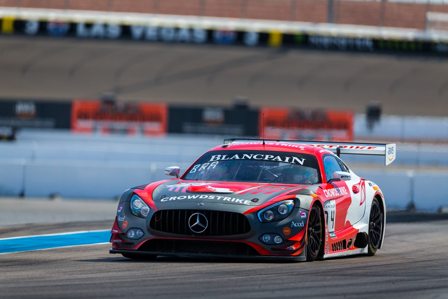 #04 Mercedes-AMG GT3 of George Kurtz and Colin Braun with DXDT Racing  2019 Blancpain GT World Challenge America - Las Vegas, Las Vegas NV | Fabian Lagunas/SRO
