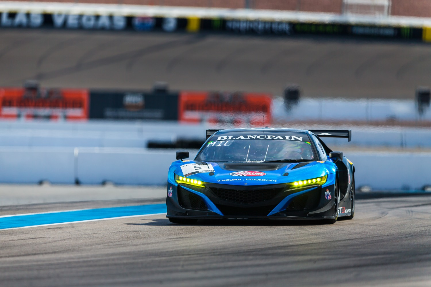 #5 Acura NSX of Till Bechtolsheimer and Marc Miller with Gradient Racing  2019 Blancpain GT World Challenge America - Las Vegas, Las Vegas NV | Fabian Lagunas/SRO