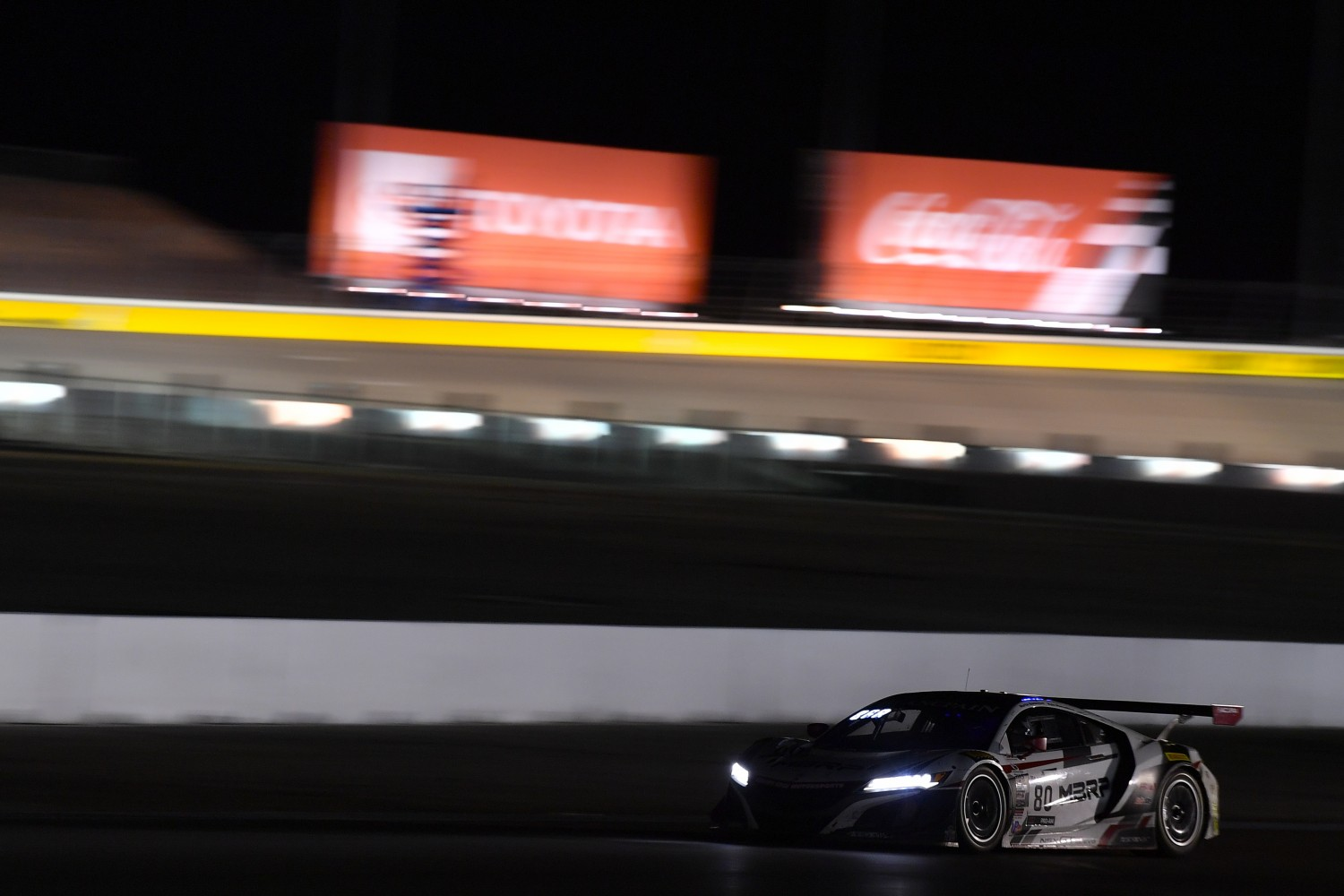 #80 Acura NSX of Martin Barkey and Kyle Marcelli with Racers Edge Motorsports  2019 Blancpain GT World Challenge America - Las Vegas, Las Vegas NV | Gavin Baker/SRO