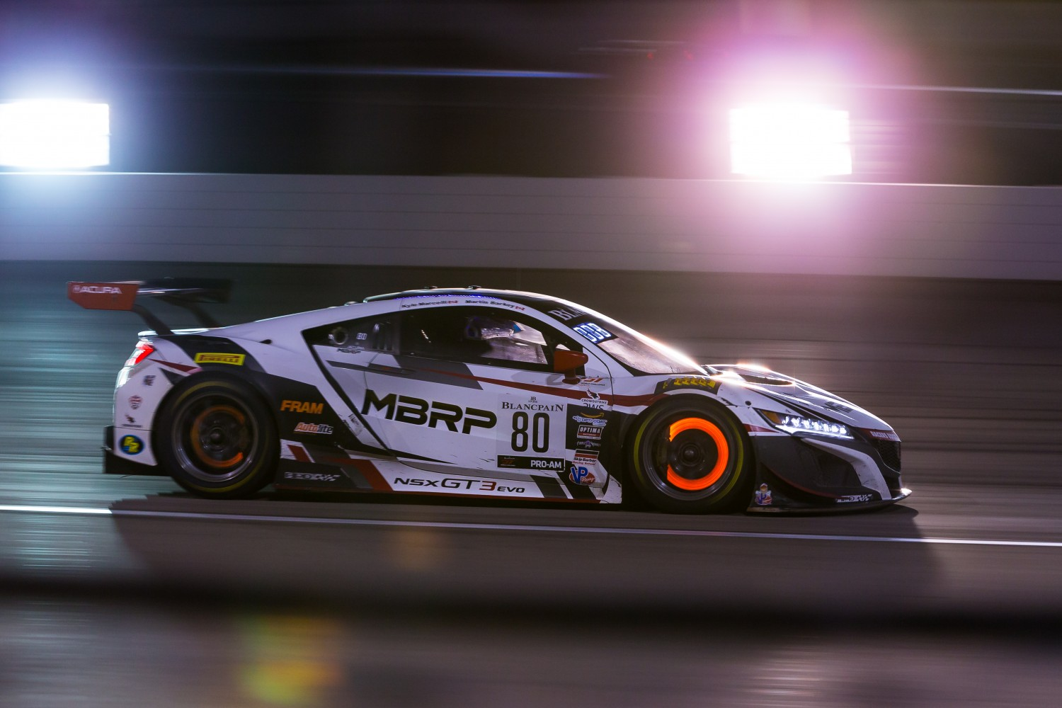 #80 Acura NSX of Martin Barkey and Kyle Marcelli with Racers Edge Motorsports  2019 Blancpain GT World Challenge America - Las Vegas, Las Vegas NV | Fabian Lagunas/SRO