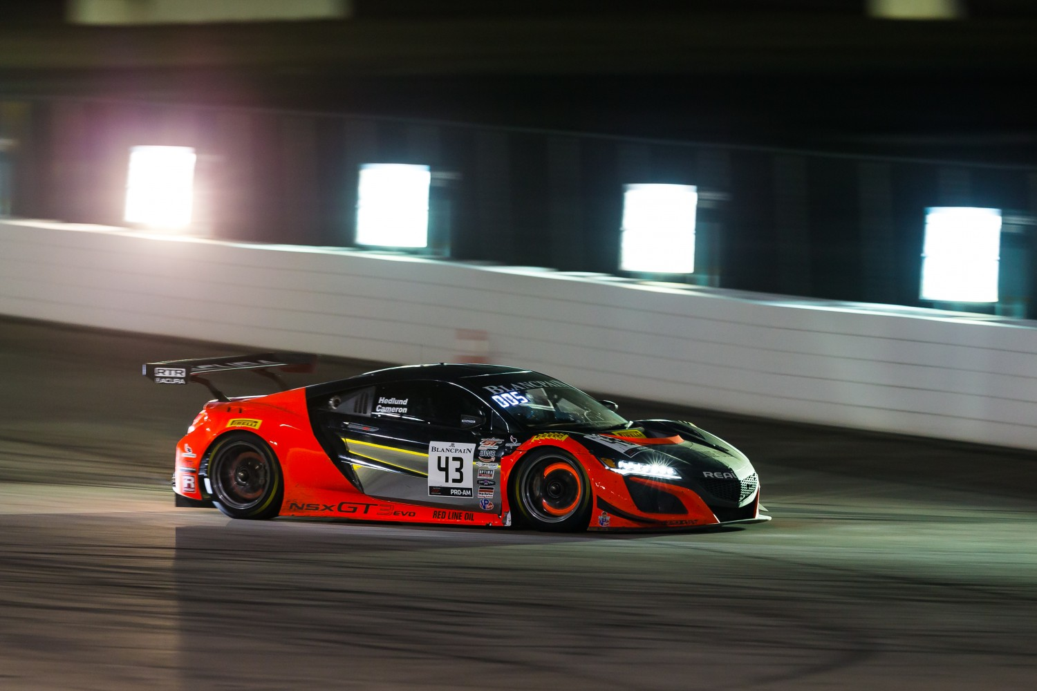 #43 Acura NSX of Mike Hedlund and Dane Cameron with RealTime Racing  2019 Blancpain GT World Challenge America - Las Vegas, Las Vegas NV | Fabian Lagunas/SRO