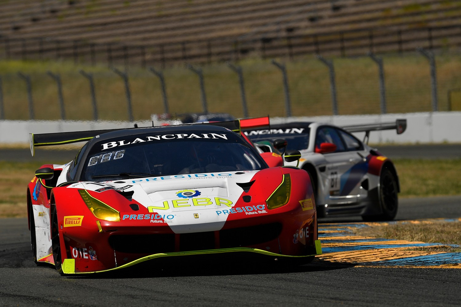 #19 Ferrari 488 GT3 of Christopher Cagnazzi and Andy Lally   SRO at Sonoma Raceway, Sonoma CA | Gavin Baker/SRO
