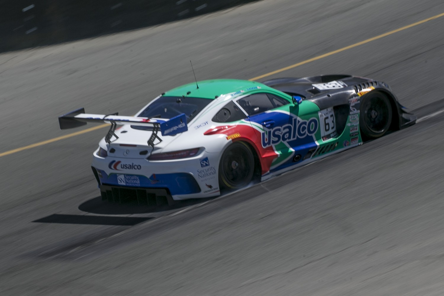 #63, DXDT Racing, Mercedes-AMG GT3, David Askew and Mike Skeen, USALCO, SRO at Sonoma Raceway, Sonoma CA  | Brian Cleary/SRO