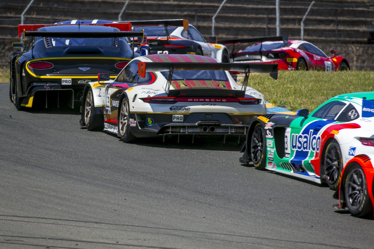 #24, Alegra Motorsports, Porsche 911 GT3 R (991), Wolf Henzler and Marco Holzer, Insync Healthcare Solutions, SRO at Sonoma Raceway, Sonoma CA  | Brian Cleary/SRO