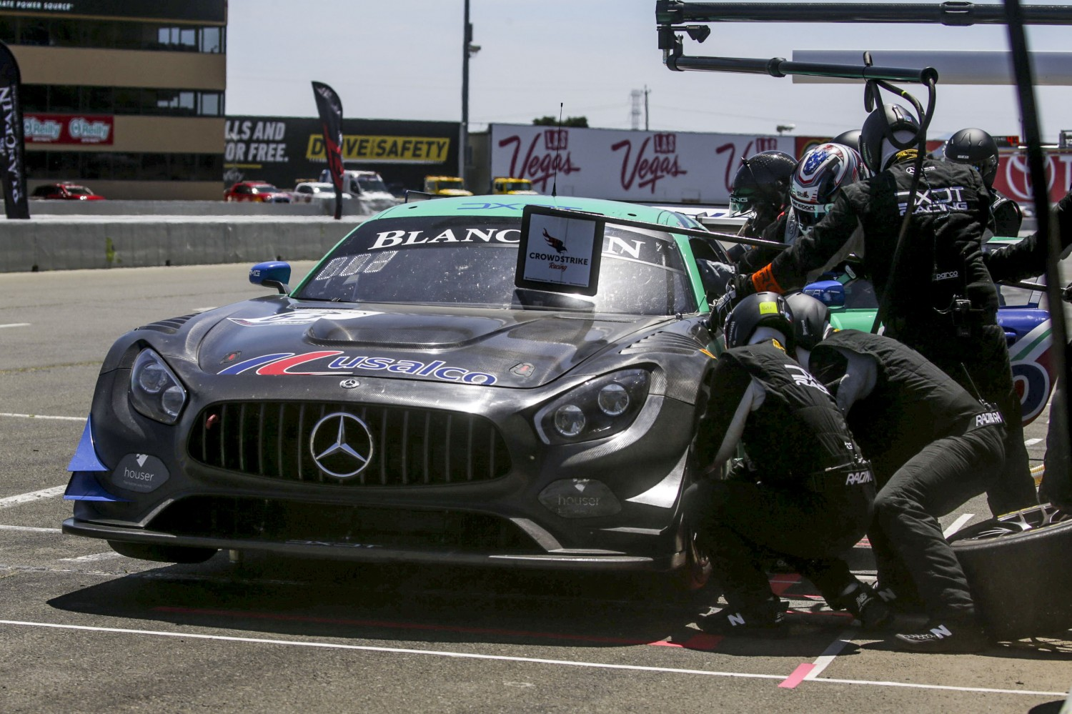 #63, DXDT Racing, Mercedes-AMG GT3, David Askew and Mike Skeen, USALCO, SRO at Sonoma Raceway, Sonoma CA  | SRO Motorsports Group