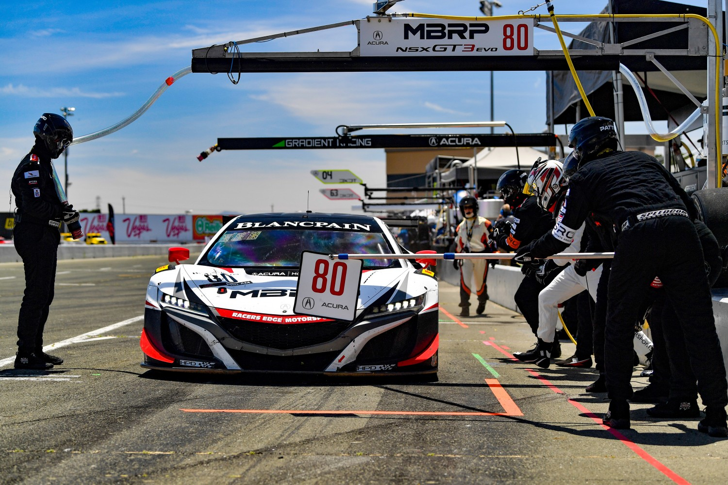 #80 Acura NSX of Martin Barkey and Kyle Marcelli   SRO at Sonoma Raceway, Sonoma CA | Gavin Baker/SRO