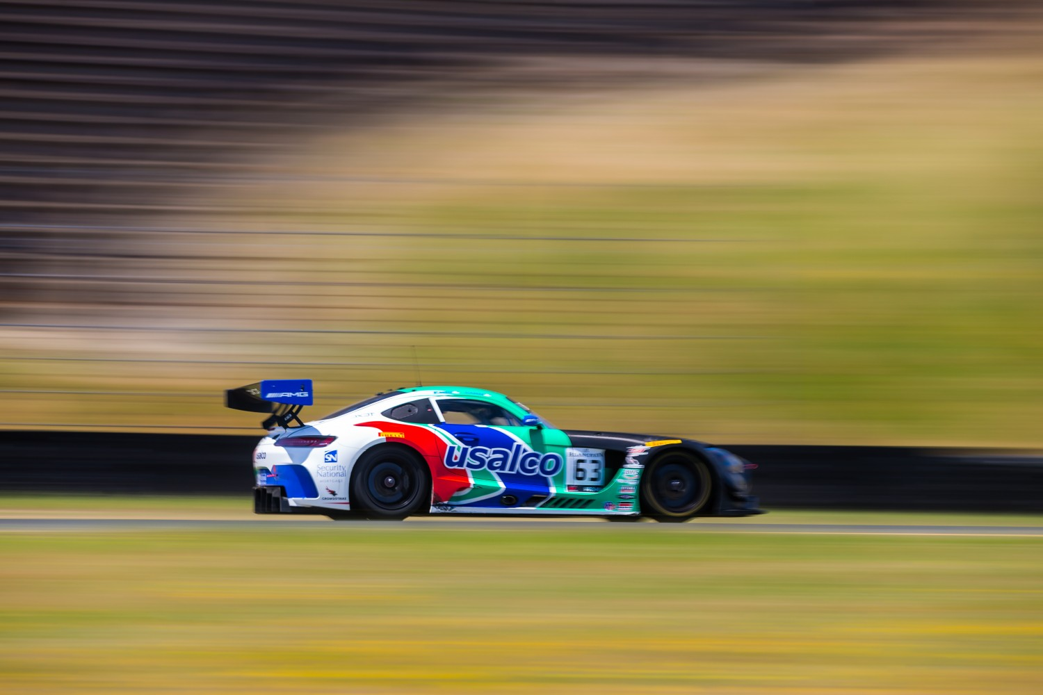 #63 Mercedes-AMG GT3 of David Askew and Mike Skeen   SRO at Sonoma Raceway, Sonoma CA | Fabian Lagunas/SRO