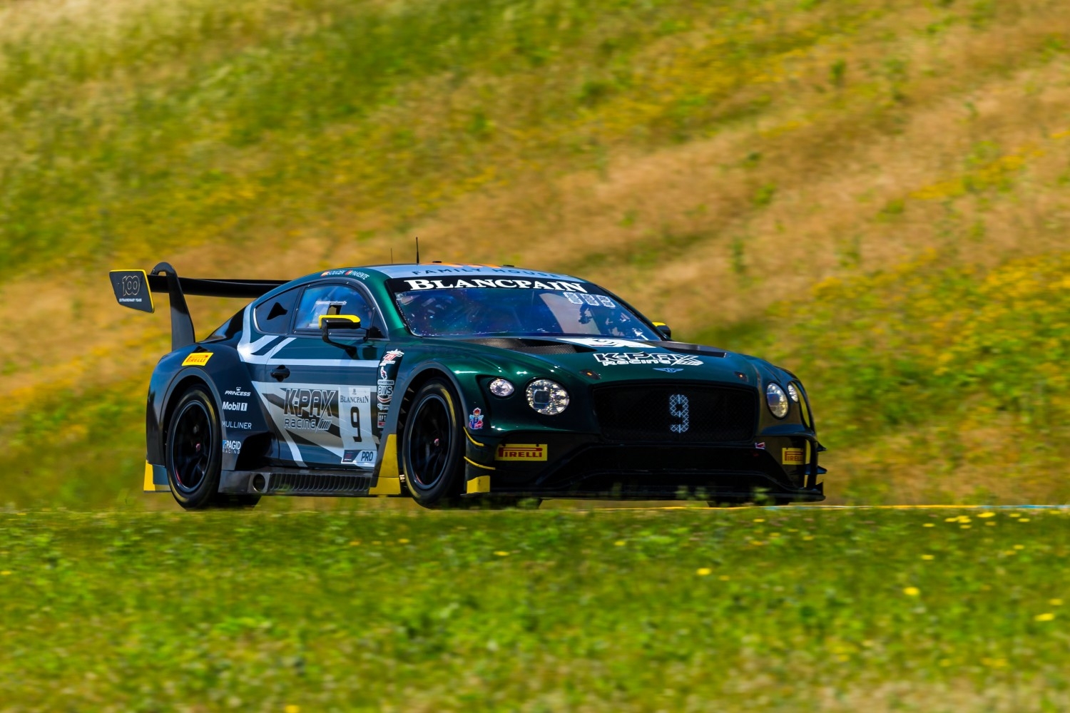 #9 Bentley Continental GT3 of Alvaro Parente and Andy Soucek   SRO at Sonoma Raceway, Sonoma CA | Fabian Lagunas/SRO
