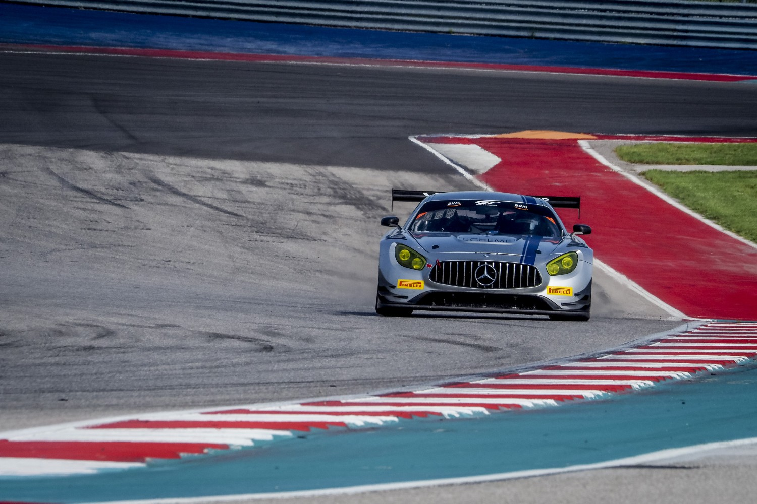 #33 Mercedes-AMG GT3 of Alec Udell and Russell Ward, Winward Racing, GT3 Pro-Am, SRO America, Circuit of the Americas, Austin TX, September 2020.  | Brian Cleary/SRO