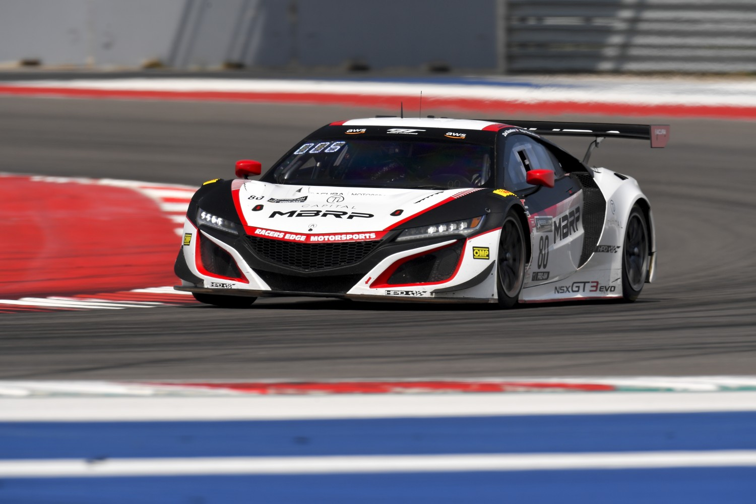 #80 Acura NSX GT3 of Ziad Ghandour and Kyle Marcelli, Racers Edge Motorsports, GT3 Pro-Am,      2020 SRO Motorsports Group - COTA2, Austin TX Photographer: Gavin Baker/SRO | © 2020 Gavin Baker