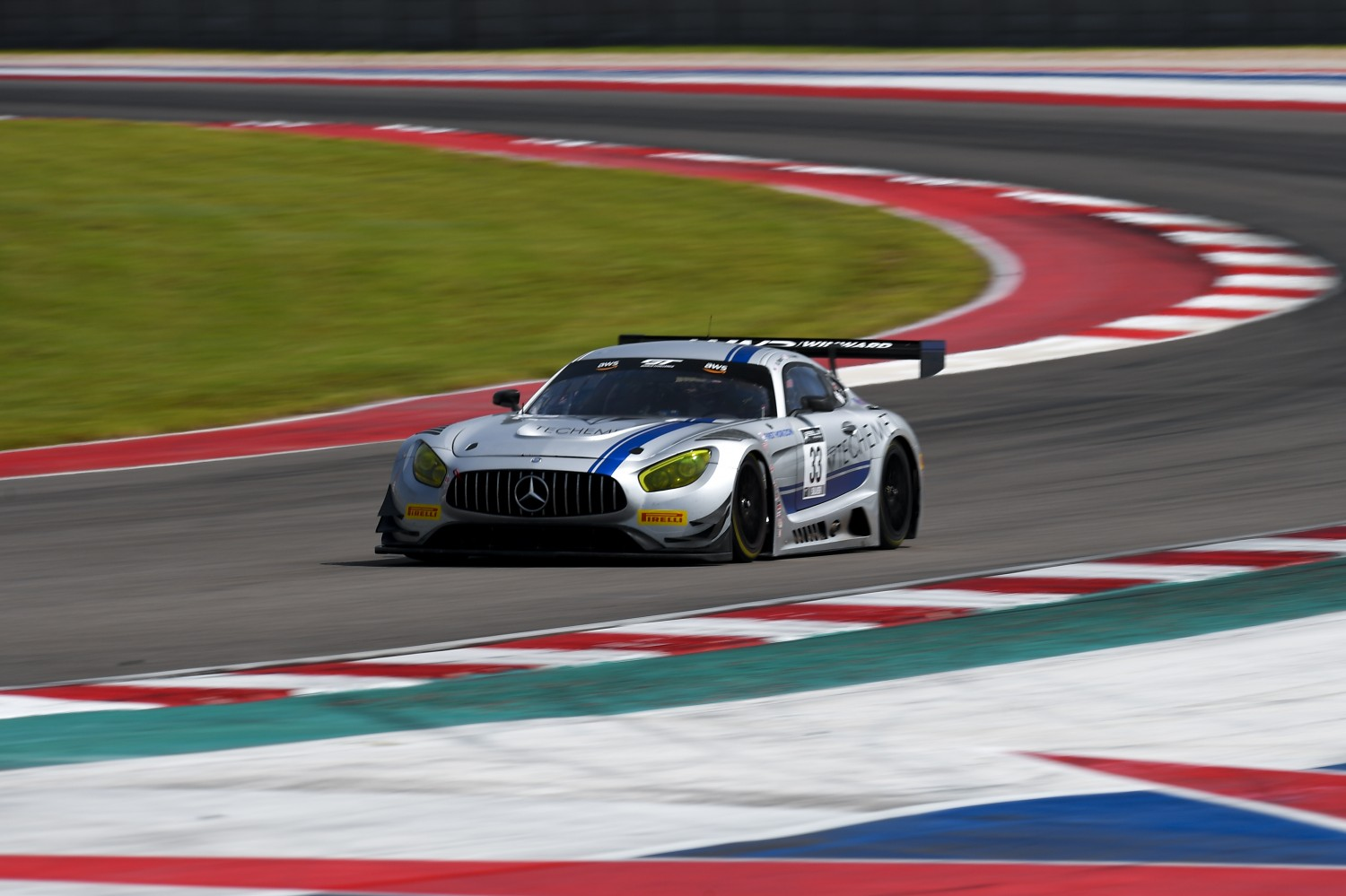 #33 Mercedes-AMG GT3 of Alec Udell and Russell Ward, Winward Racing, GT3 Pro-Am,      2020 SRO Motorsports Group - COTA2, Austin TX Photographer: Gavin Baker/SRO | © 2020 Gavin Baker