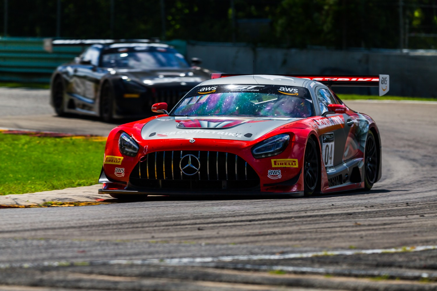 #04 Mercedes-AMG GT3 of George Kurtz and Colin Braun, DXDT Racing, GT3 Pro-Am,   SRO America, Road America,  Elkhart Lake,  WI, July 2020.