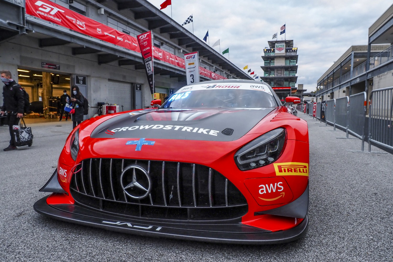 #04 Mercedes AMG GT3 of George Kurtz, Colin Braun and Richard Hesitand, DXDT Racing, GT3 Pro-Am, SRO, Indianapolis Motor Speedway, Indianapolis, IN, September 2020.  | Brian Cleary/SRO