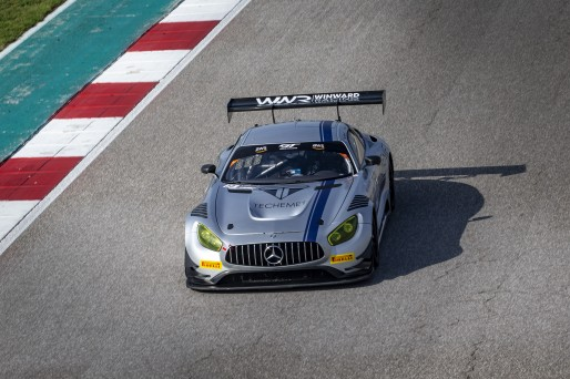 #33 Mercedes-AMG GT3 of Alec Udell and Russell Ward, Winward Racing, GT3 Pro-Am, SRO America, Circuit of the Americas, Austin TX, September 2020.